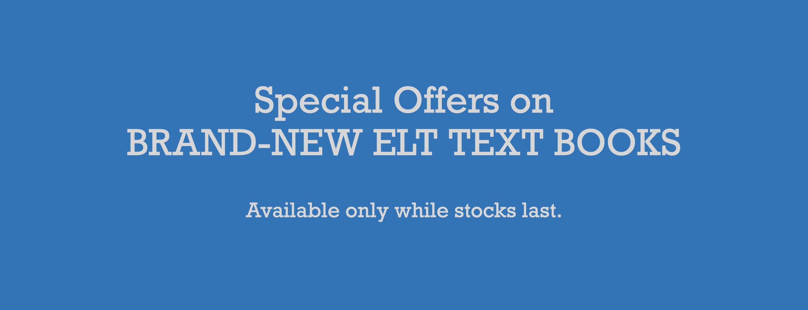 Bargain Bin: Brand-New ELT Text Books | ELTBOOKS.com